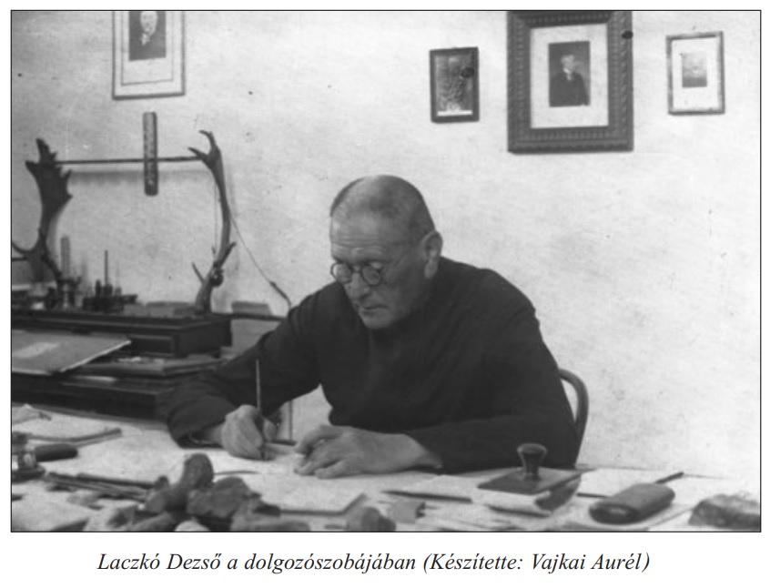 Dezső Laczkó in his working room (Photo credit: Aurél Vajkai)